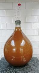 Elderflower wine in secondary fermentation